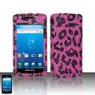 Hard Rhinestone Design Case for Samsung Captivate i897 (AT&T) - Pink Leopard