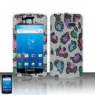 Hard Rhinestone Design Case for Samsung Captivate i897 (AT&T) - Colorful Leopard