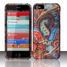 Hard Rubber Feel Design Case for Apple iPhone 5 - Enticing Peacock