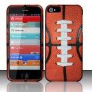 Hard Rubber Feel Design Case for Apple iPhone 5 - Football