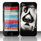 Hard Rubber Feel Design Case for Apple iPhone 5 - Spade Skull