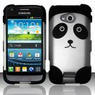 Hard Rubber Feel Design Case for Samsung Galaxy Victory 4G LTE L300 (Sprint) - Panda Bear