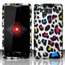 Hard Rubber Feel Design Case for Motorola Droid RAZR HD XT926 (Verizon) - Colorful Leopard