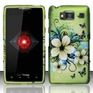 Hard Rubber Feel Design Case for Motorola Droid RAZR HD XT926 (Verizon) - Hawaiian Flowers