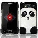 Hard Rubber Feel Design Case for Motorola Droid RAZR HD XT926 (Verizon) - Panda Bear
