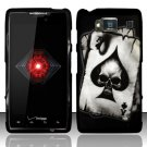 Hard Rubber Feel Design Case for Motorola Droid RAZR HD XT926 (Verizon) - Spade Skull