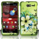 Hard Rubber Feel Design Case for Motorola Droid RAZR M 4G LTE XT907 (Verizon) - Hawaiian Flowers