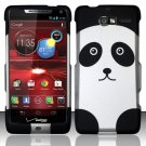 Hard Rubber Feel Design Case for Motorola Droid RAZR M 4G LTE XT907 (Verizon) - Panda Bear