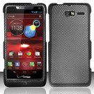 Hard Rubber Feel Design Case for Motorola Droid RAZR M 4G LTE XT907 (Verizon) - Carbon Fiber