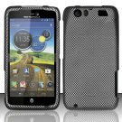 Hard Rubber Feel Design Case for Motorola Atrix HD 4G LTE MB886 (AT&T) - Carbon Fiber
