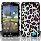 Hard Rubber Feel Design Case for Motorola Atrix HD 4G LTE MB886 (AT&T) - Colorful Leopard