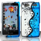 Hard Rubber Feel Design Case for Motorola Electrify 2 XT881 - Blue Vines