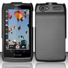 Hard Rubber Feel Design Case for Motorola Electrify 2 XT881 - Carbon Fiber