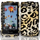 Hard Rubber Feel Design Case for Motorola Electrify 2 XT881 - Cheetah