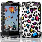 Hard Rubber Feel Design Case for Motorola Electrify 2 XT881 - Colorful Leopard