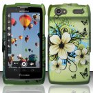 Hard Rubber Feel Design Case for Motorola Electrify 2 XT881 - Hawaiian Flowers