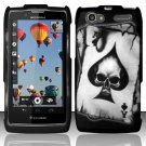 Hard Rubber Feel Design Case for Motorola Electrify 2 XT881 - Spade Skull