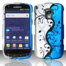 Hard Rubber Feel Design Case for Samsung Galaxy S Lightray 4G R940 (MetroPCS) - Blue Vines