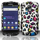 Hard Rubber Feel Design Case for Samsung Galaxy S Lightray 4G R940 (MetroPCS) - Colorful Leopard