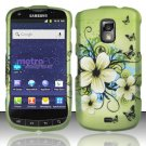 Hard Rubber Feel Design Case for Samsung Galaxy S Lightray 4G R940 (MetroPCS) - Hawaiian Flowers