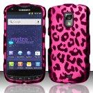 Hard Rubber Feel Design Case for Samsung Galaxy S Lightray 4G R940 (MetroPCS) - Pink Leopard