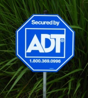 Authentic Adt Yard Signs And Adt Double Sided Window