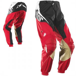 Thor motocross pants size adult 28 red and black