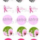 Breast Cancer Awareness Bottle Cap Image Sheet -- 4X6 -- Digital