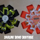 Lot of 2 Halloween Interchangeable Bows