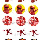 Elmo Bottle Cap Image Sheet -- 4X6 -- Digital