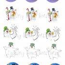 Frosty The Snowman Bottle Cap Image Sheet -- 4X6 -- Digital