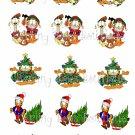 Garfield Christmas Bottle Cap Image Sheet -- 4X6 -- Digital
