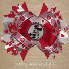 Mickey Mouse Valentine Bow