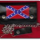 LEATHER WALLET W BATTLE FLAG