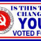 CHANGE YOU VOTED FOR? BUMPER STICKER
