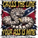 CROSS THE LINE SNAKE T-SHIRT 2X