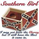 SOUTHERN GIRL CHERRY 2X WHITE T-SHIRT