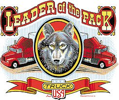 LEADER OF THE PACK TRUCKER T-SHIRT WHITE SMALL