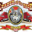 LEADER OF THE PACK TRUCKER T-SHIRT WHITE MEDIUM