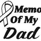 IN MEMORY OF DAD T-SHIRT ASH GRAY LARGE