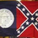 GEORGIA BATTLE FLAG COTTON 3'X5'