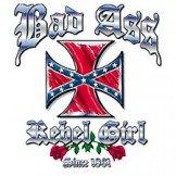 bad ass rebel girl t shirt 2x