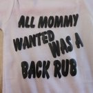 all mommy wanted onesies 0/3 month