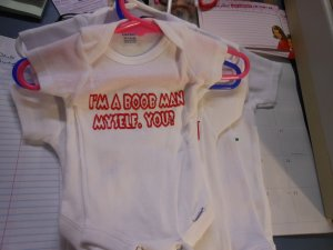 am a boob man onesies 0/3 month