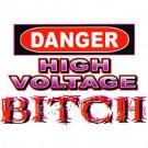 dange high voltage t-shirt x-large