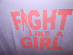 FIGHT LIKE A GIRL T-SHIRT X-LARGE