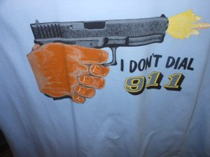 i dont dail 911 t-shirt large