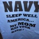 navy sleep well my mom t-shirt meduim