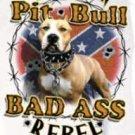 BAD ASS REBEL PITT T-SHIRT LARGE