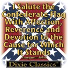 I SALUTE THE CONFEDERATE FLAG T-SHIRT LARGE